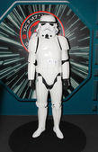 A model of the character Storm Trooper from the movies and comic — Stock Photo