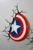 A model of the Captain America Shield from the movies and comics — Stock Photo