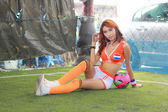 An Unidentified model  promote World cup 2014 — Stock fotografie