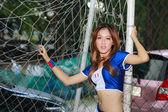 身份不明的模式促进 2014年世界杯 — 图库照片