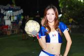 Un modèle non identifié promouvoir la coupe du monde 2014 — Photo