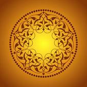 Osmanlı motifleri turuncu zeminde — Stock Vector