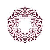 Pembe Osmanlı motifleri beyaz zeminde — Stock Vector