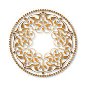 Altın Osmanlı motifleri beyaz zeminde — Stock Vector