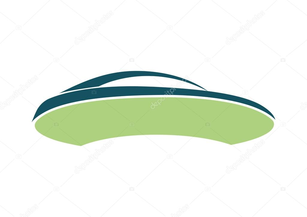 Green Car Logo Green Paper Car Logo on a