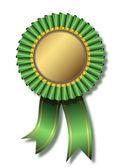 Green awards white background — Stock Vector