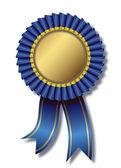 Blue awards white background — Stock Vector