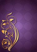Purple gold patterns — Stock Vector