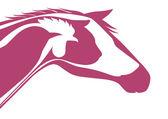 Pink veterinary logo — Stock Vector