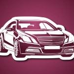 Arabaların kralı pembe fonda — Stock Vector