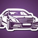 Arabaların kralı mor fonda — Stock Vector #31863855