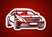 Arabaların kralı kırmızı fonda — Vecteur