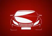 Abstract vector car logo — Stock Vector