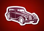 Sport classic automobile — Stock Vector