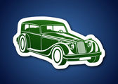 Nostalgic auto — Stock Vector