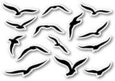 Seagulls — Vettoriale Stock