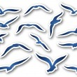 Seagulls — Stock Vector