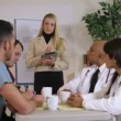 Stock Video: Businesswoman conducting a meeting