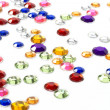 Colorful rhinestones — Stock Photo