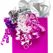 Stock Photo: Pink gift bag