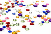 Colorful rhinestones — Stock Photo