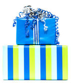 Blue and striped presents — Foto de Stock