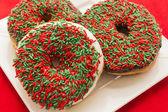 Christmas Doughnuts — Stock Photo