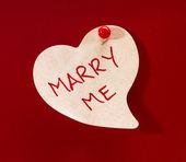 Marry Me Heart Memo — Stock Photo