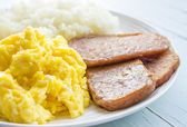 Spam, Eggs and Rice — Stock Photo