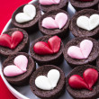 Heart Brownies — Stock Photo #20920883