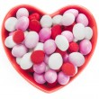 Heart Shaped Candy Dish — Stock Photo