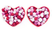 Two Heart Shaped Candy Dishes — Stock Photo