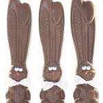 Three Chocolate Bunnies — Stock Photo