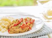 Honey Mustard Chicken Thighs — Stock Photo
