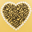 Animal Print Heart — Stock Photo