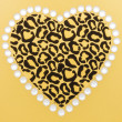 Stock Photo: Animal Print Heart