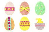 Glitter Easter Eggs — Stock Photo