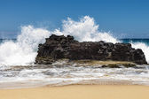 Big Rock Beach Splash 1 — Stock Photo