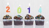 New Year Cupcakes — Stock Photo