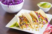 Ahi Katsu Sushi Tacos — Stock Photo
