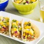 Hawaiian BBQ Chicken Tacos — Stock Photo #30682239
