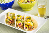 Hawaiian BBQ Chicken Tacos — Stock Photo