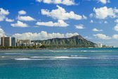 Diamond head e waikiki — Foto Stock