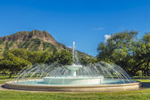 Dillingham fontana e diamond head — Foto Stock