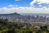 Waikiki and Diamond Head — Stock Photo