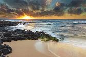 Sandy Beach Sunrise — Stock Photo