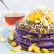 Stock Photo: Hawaiitaro pancakes