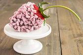 Roze chocolade aardbei — Stockfoto