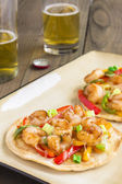 Spicy Shrimp Pizza — Stok fotoğraf