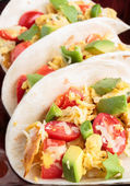 Migas Tacos — Stock Photo